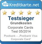 Sieger Grundkosten im Corporate Cards Test 2014