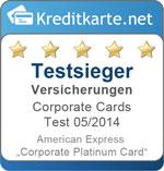 Sieger Versicherungenn im Corporate Cards Test 2014